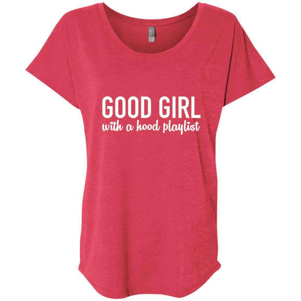 GOOD GIRL with a hood playlist T-Shirts CustomCat Vintage Red X-Small