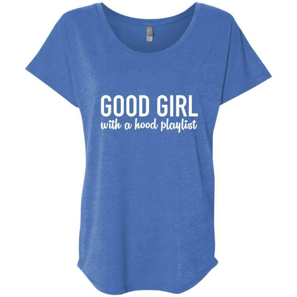 GOOD GIRL with a hood playlist T-Shirts CustomCat Vintage Royal X-Small