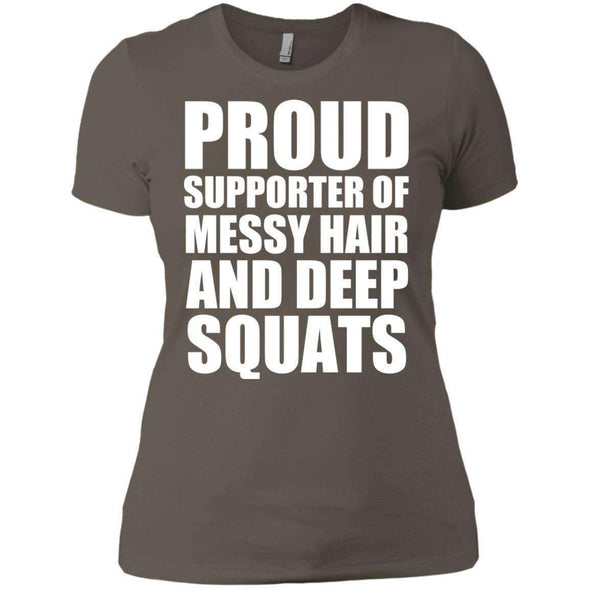Got My Messy Hair & Deep Squats T-Shirts CustomCat Warm Grey X-Small