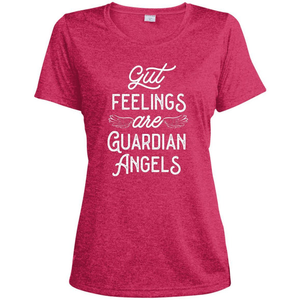 Gut Feelings are Guardian Angels Dri-Fit T-Shirt T-Shirts CustomCat Pink Raspberry Heather X-Small
