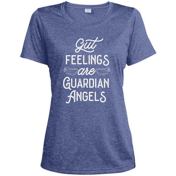 Gut Feelings are Guardian Angels Dri-Fit T-Shirt T-Shirts CustomCat True Royal Heather X-Small