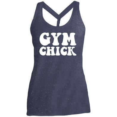 Gym Chick T-Shirts CustomCat Navy/Royal Cosmic X-Small