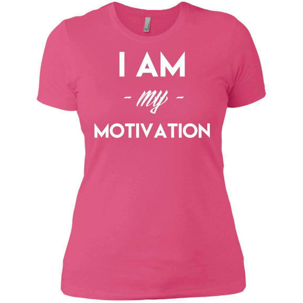 I am my Motivation T-Shirts CustomCat Hot Pink X-Small