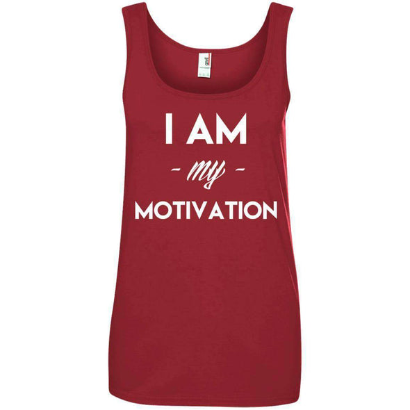 I am my Motivation T-Shirts CustomCat Independence Red Small