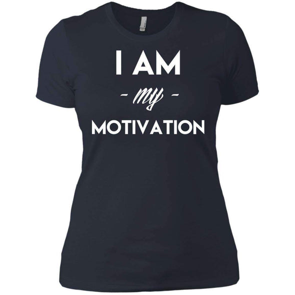 I am my Motivation T-Shirts CustomCat Indigo X-Small