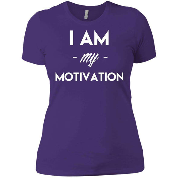 I am my Motivation T-Shirts CustomCat Purple Rush/ X-Small