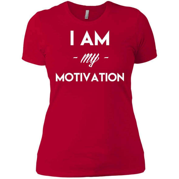 I am my Motivation T-Shirts CustomCat Red X-Small