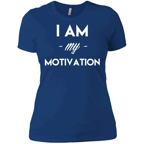 I am my Motivation T-Shirts CustomCat Royal X-Small