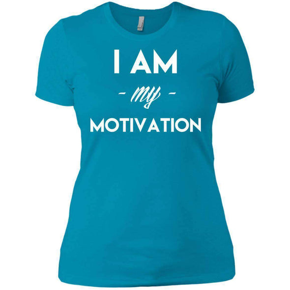 I am my Motivation T-Shirts CustomCat Turquoise X-Small