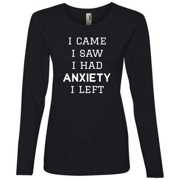 I Came I Saw Long Sleeve T-Shirt T-Shirts CustomCat Black S