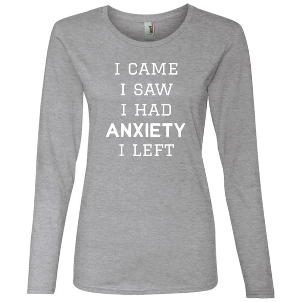 I Came I Saw Long Sleeve T-Shirt T-Shirts CustomCat Heather Grey S