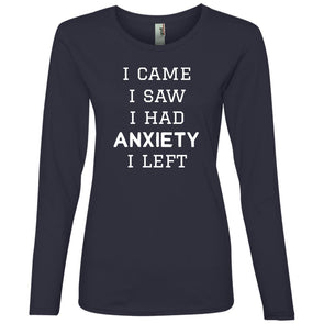 I Came I Saw Long Sleeve T-Shirt T-Shirts CustomCat Navy S