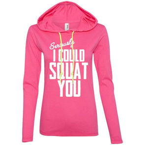 I Could Squat You T-Shirts CustomCat Hot Pink/Neon Yellow S