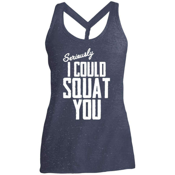 I Could Squat You T-Shirts CustomCat Navy/Royal Cosmic X-Small
