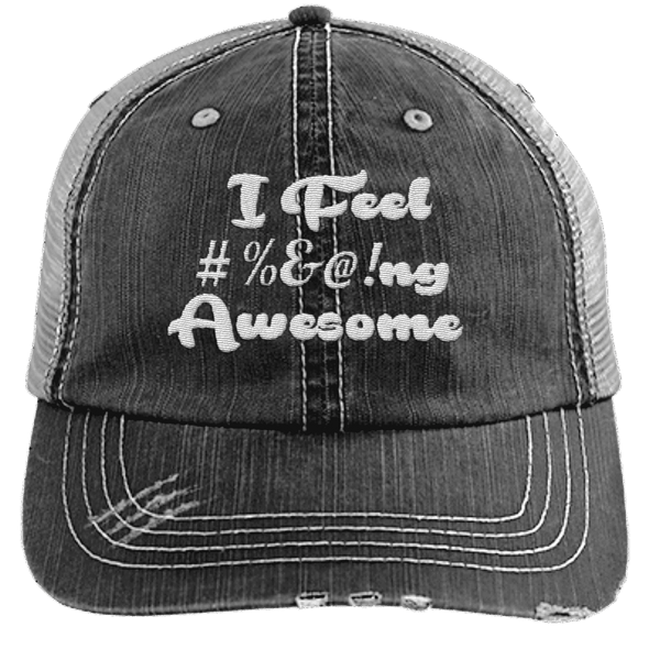 I feel #%@ Awesome Hats CustomCat Black/Grey One Size
