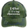 I feel #%@ Awesome Hats CustomCat Dark Green/Navy One Size