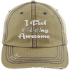 I feel #%@ Awesome Hats CustomCat Khaki/Navy One Size