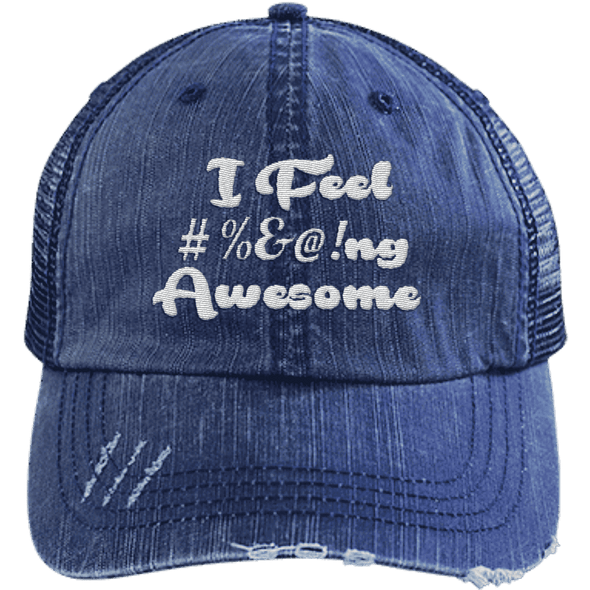 I feel #%@ Awesome Hats CustomCat Navy/Navy One Size