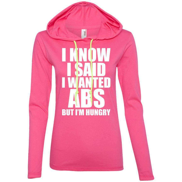 I know I Said T-Shirts CustomCat Hot Pink/Neon Yellow Small