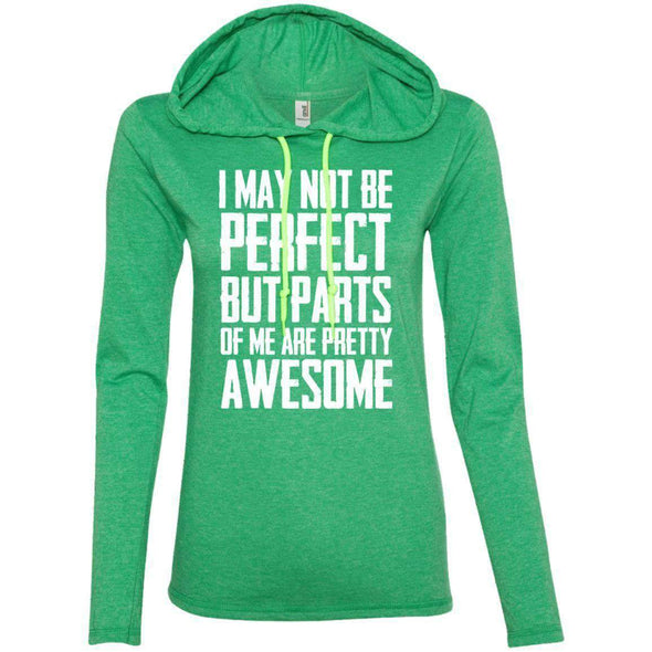 I may not be perfect T-Shirts CustomCat Heather Green/Neon Yellow Small