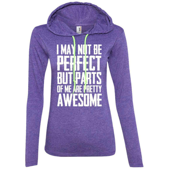 I may not be perfect T-Shirts CustomCat Heather Purple/Neon Yellow Small