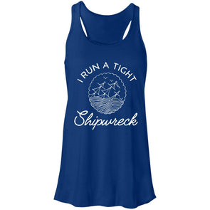 I Run a Tight Shipwreck Racerback Tank T-Shirts CustomCat True Royal X-Small
