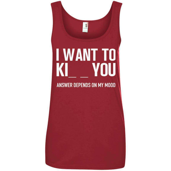 I Want to Kiss Kill You T-Shirts CustomCat Independence Red S