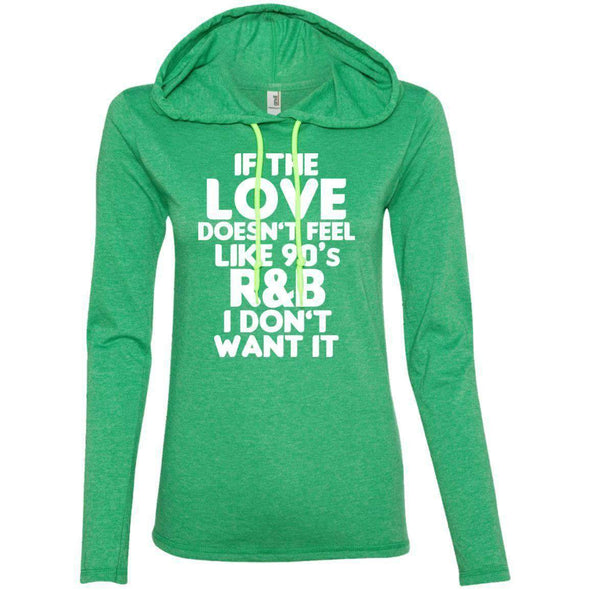 If the LOVE doesn't feel like 90's R&B T-Shirts CustomCat Heather Green/Neon Yellow Small