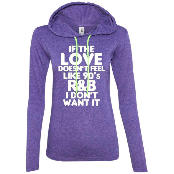 If the LOVE doesn't feel like 90's R&B T-Shirts CustomCat Heather Purple/Neon Yellow Small