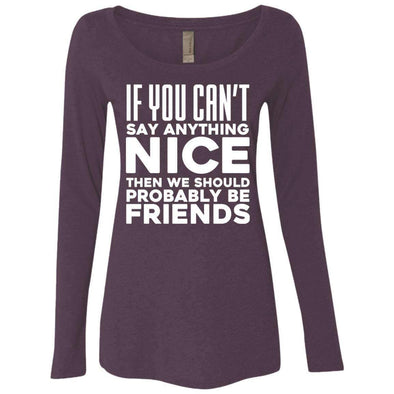 If you can't say anything nice T-Shirts CustomCat Vintage Purple Small