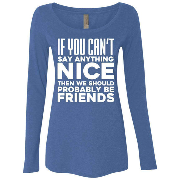 If you can't say anything nice T-Shirts CustomCat Vintage Royal Small