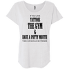 If You Love Tattoos, the Gym and Have a Potty Mouth Tees Apparel CustomCat NL6760 Next Level Ladies' Triblend Dolman Sleeve Heather White X-Small