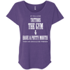 If You Love Tattoos, the Gym and Have a Potty Mouth Tees Apparel CustomCat NL6760 Next Level Ladies' Triblend Dolman Sleeve Purple Rush X-Small