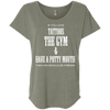 If You Love Tattoos, the Gym and Have a Potty Mouth Tees Apparel CustomCat NL6760 Next Level Ladies' Triblend Dolman Sleeve Venetian Grey X-Small