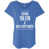 If You Love Tattoos, the Gym and Have a Potty Mouth Tees Apparel CustomCat NL6760 Next Level Ladies' Triblend Dolman Sleeve Vintage Royal X-Small