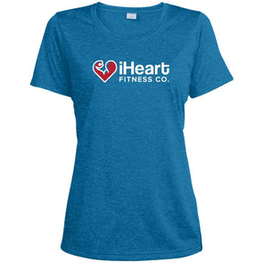 iHeart Fitness Dri-Fit T-Shirt T-Shirts CustomCat Blue Wake Heather X-Small