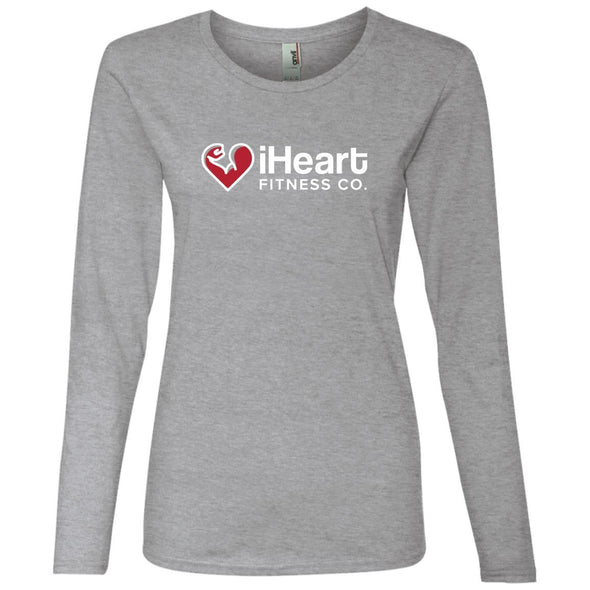 iHeart Fitness Long Sleeve T-Shirt T-Shirts CustomCat Heather Grey S