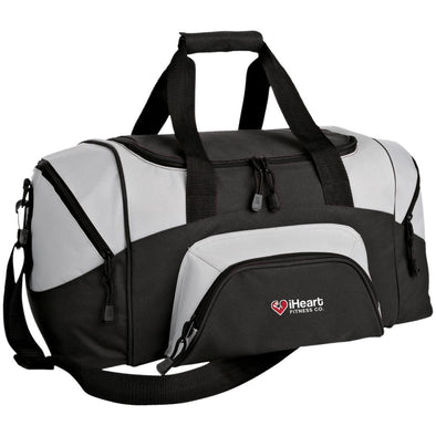 iHeart Fitness Small Colorblock Duffel Bag Bags CustomCat Black/Gray One Size