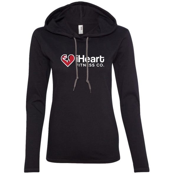 iHeart Fitness T-Shirt Hoodie T-Shirts CustomCat Black/Dark Grey S