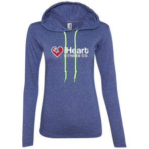iHeart Fitness T-Shirt Hoodie T-Shirts CustomCat Heather Blue/Neon Yellow S