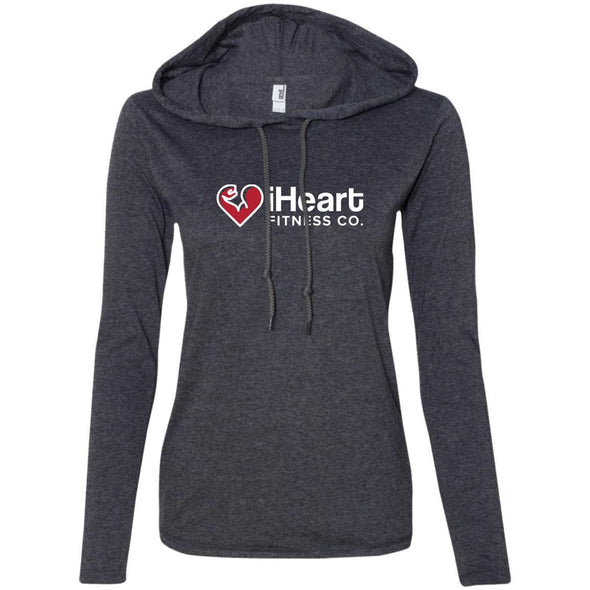 iHeart Fitness T-Shirt Hoodie T-Shirts CustomCat Heather Dark Grey/Dark Grey S