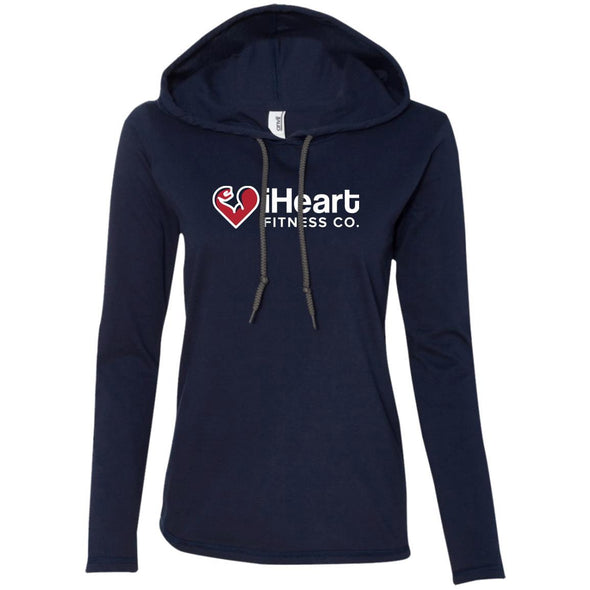 iHeart Fitness T-Shirt Hoodie T-Shirts CustomCat Navy/Dark Grey S