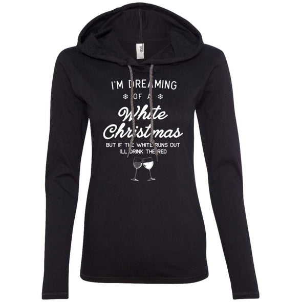 I'm Dreaming of a White Christmas T-Shirt Hoodie T-Shirts CustomCat Black/Dark Grey S
