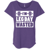I'm Leg Day Wasted Tees Apparel CustomCat NL6760 Next Level Ladies' Triblend Dolman Sleeve Purple Rush X-Small