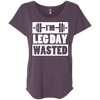 I'm Leg Day Wasted Tees Apparel CustomCat NL6760 Next Level Ladies' Triblend Dolman Sleeve Vintage Purple X-Small