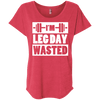 I'm Leg Day Wasted Tees Apparel CustomCat NL6760 Next Level Ladies' Triblend Dolman Sleeve Vintage Red X-Small