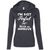 I'm not perfect but watch me improve (Hoodies) Apparel CustomCat 887L Anvil Ladies' LS T-Shirt Hoodie Heather Dark Grey/Dark Grey Small
