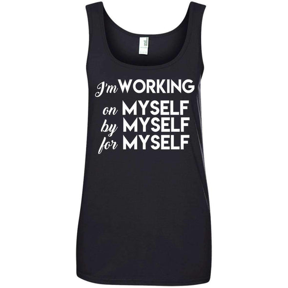 I'm working for myself T-Shirts CustomCat Black Small