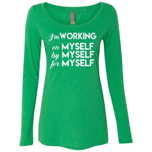 I'm working for myself T-Shirts CustomCat Envy Small