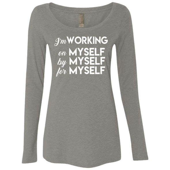 I'm working for myself T-Shirts CustomCat Venetian Grey Small